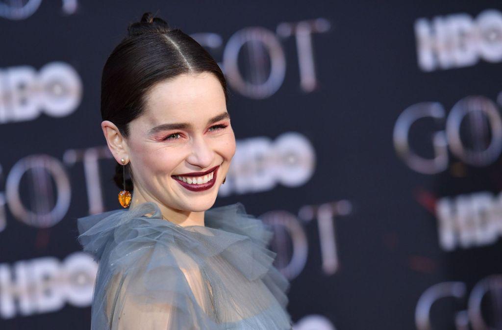 Schauspielerin Emilia Clarke war ursprünglich nicht in der Rolle der Daenerys Targaryen vorgesehen. Foto: AFP