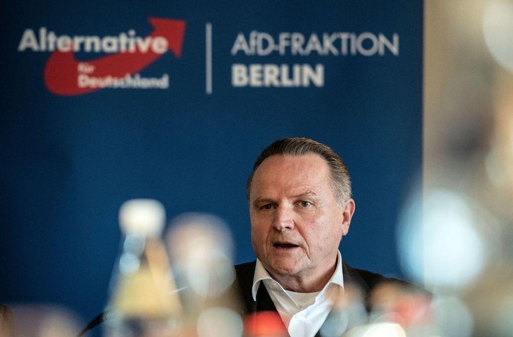 Der Berliner AfD-Landeschef Georg Pazderski macht die Landesregierung haftbar. Foto: dpa/Paul Zinken