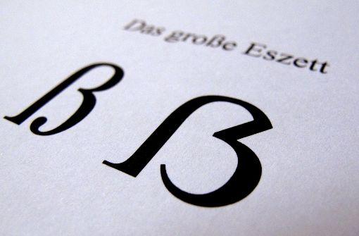 Die deutsche Sprache hat einen neuen Großbuchstaben: das große Eszett. Foto: dpa