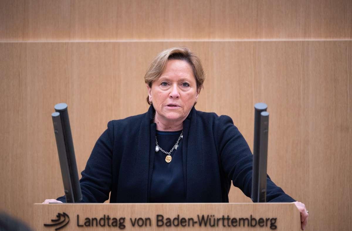 Susanne Eisenmann will die Bildung bei den Ländern belassen. Foto: dpa/Sebastian Gollnow