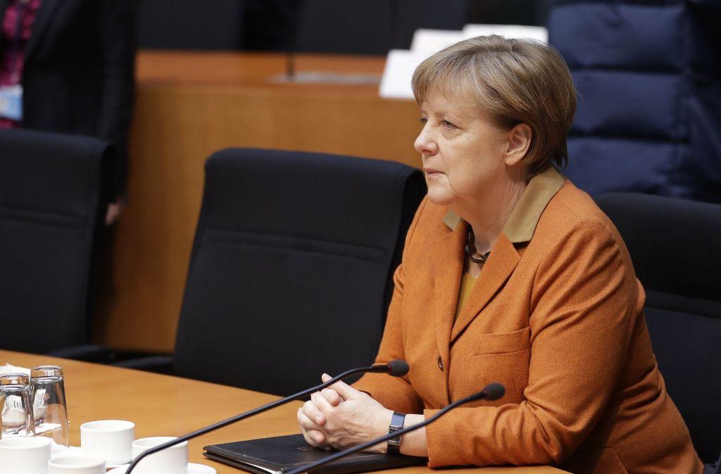 Bundeskanzlerin Angela Merkel wurde vor dem NSA-Untersuchungsausschuss des Bundestags befragt. Foto: AP