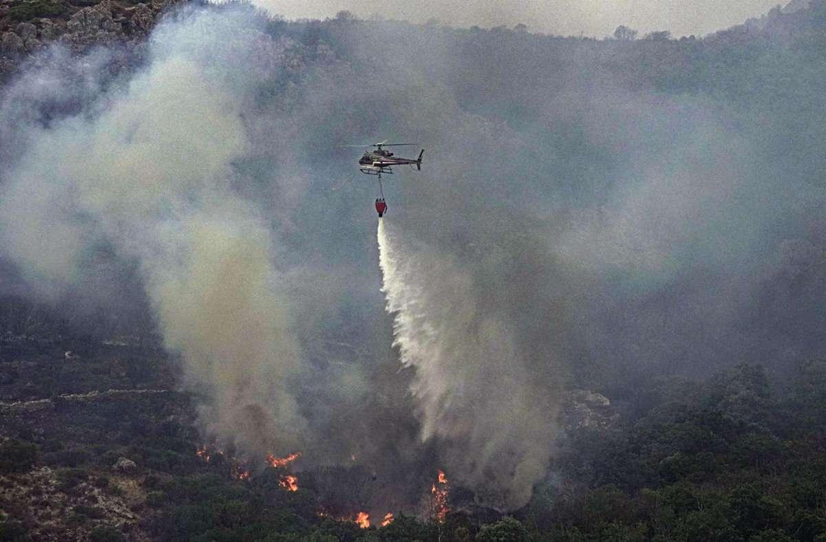 Im Westen Sardiniens loderten seit einigen Tagen  Flammen. Foto: dpa/Alessandro Tocco