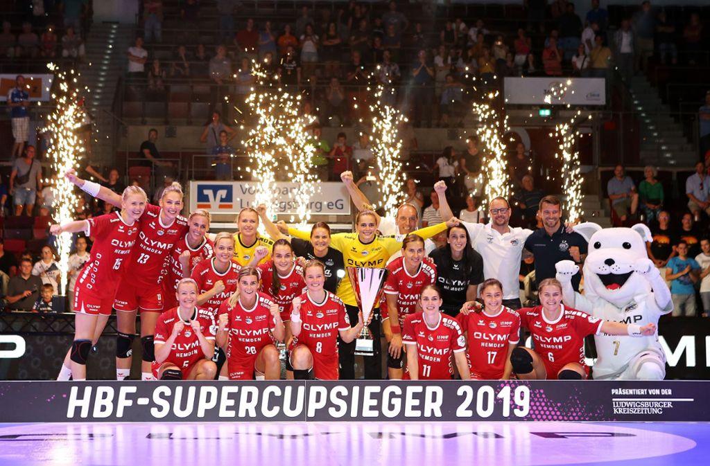 So kann's weitergehen: Supercup an Bietigheim. Foto: Baumann