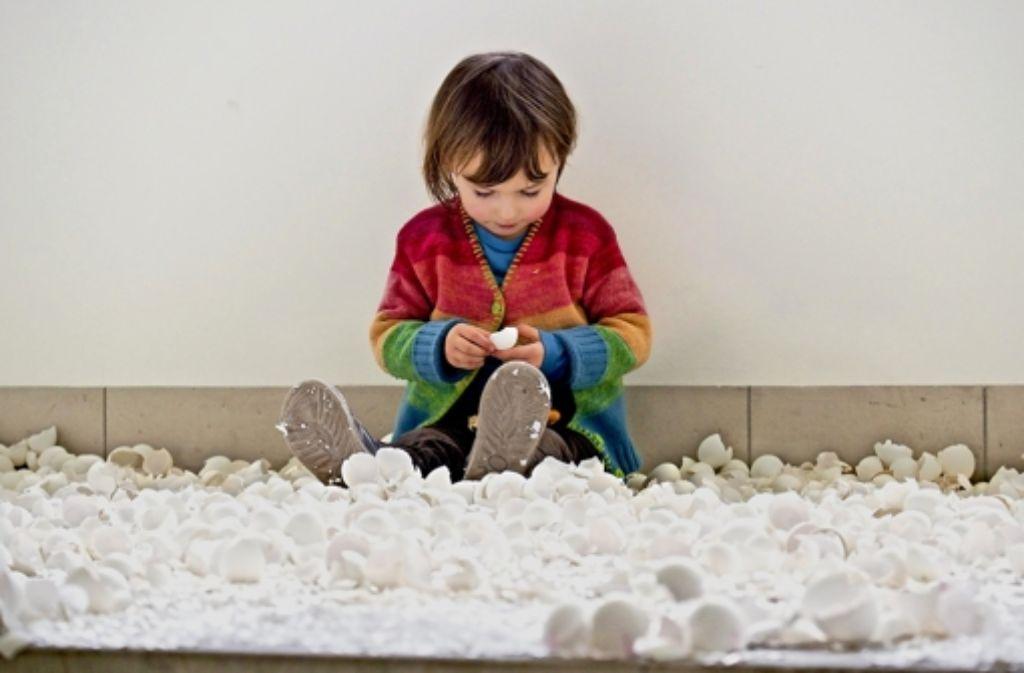 In Caroline Wengs Installation durften Besucher Spuren hinterlassen. Foto: factum/Weise