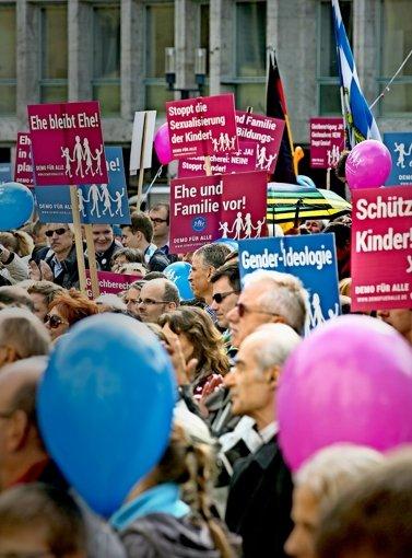 Die Debatte über den Bildungsplan wird  die Polizei beschäftigen. Foto: Lichtgut/Horst Rudel