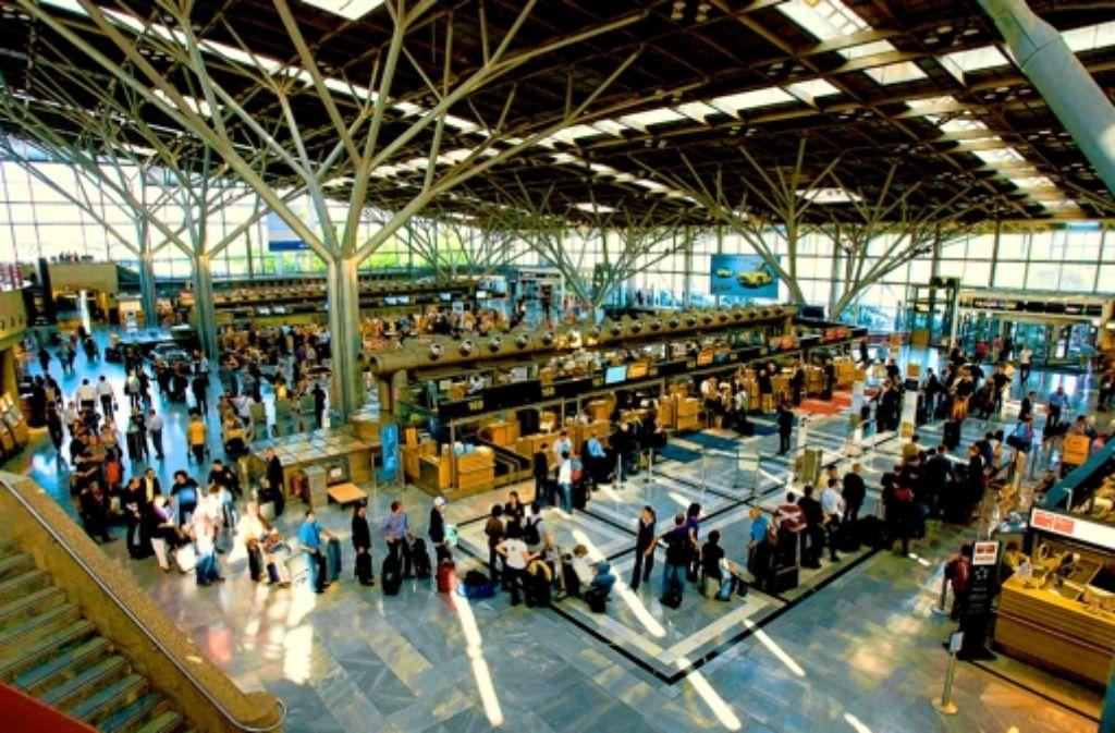 Das Geschäft am Stuttgarter Flughafen brummt. Foto: dapd