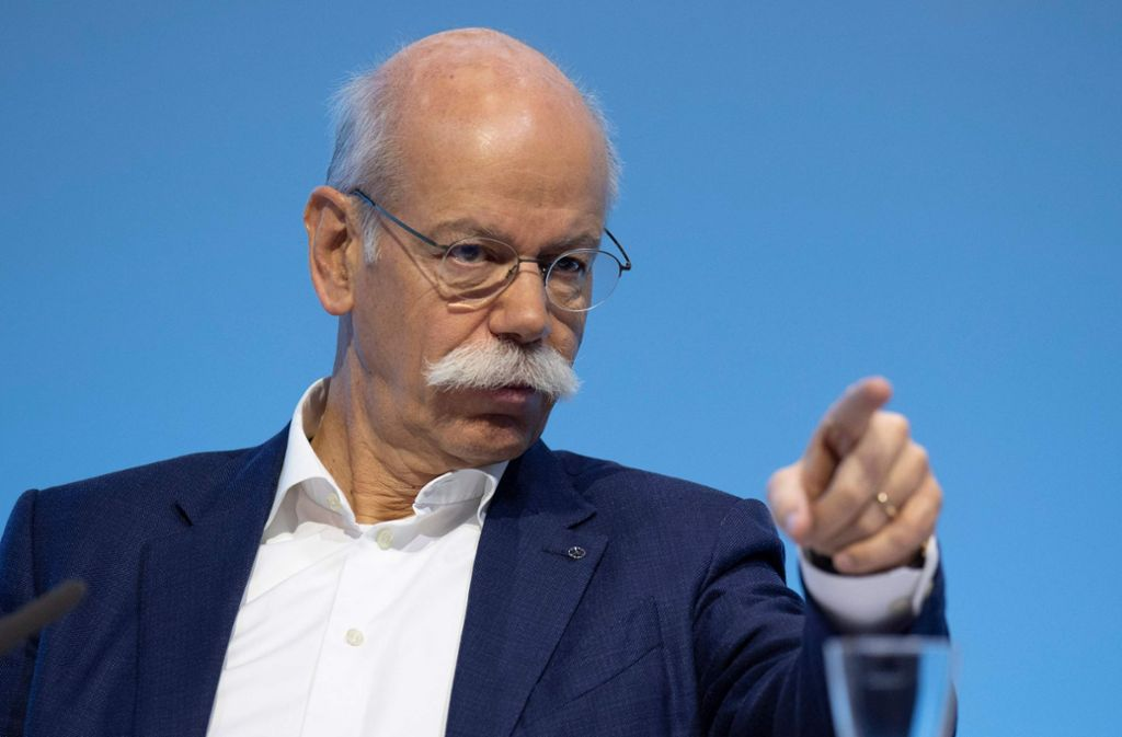 Daimler-Chef Dieter Zetsche hinterlässt für seinen Nachfolger viele offene Fragen. Foto: AFP
