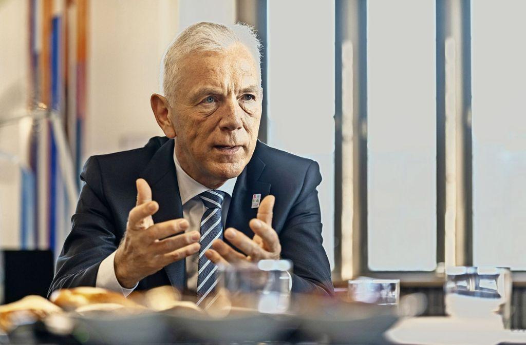 Halbzeit: Seit vier Jahren ist der Heilbronner Oberbürgermeister Harry Mergel im Amt. Foto: factum/Weise