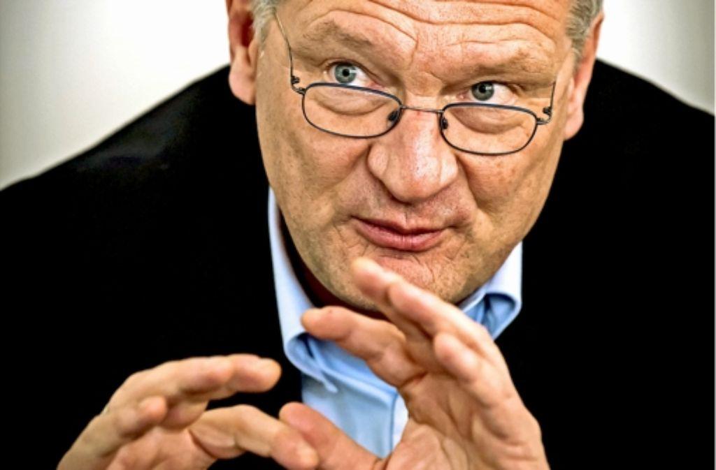 Der AfD-Vorsitzende Jörg Meuthen sieht sich und seine Partei zu Unrecht in die rechte Schmuddel-Ecke gestellt. Foto: Lichtgut/Achim Zweygarth