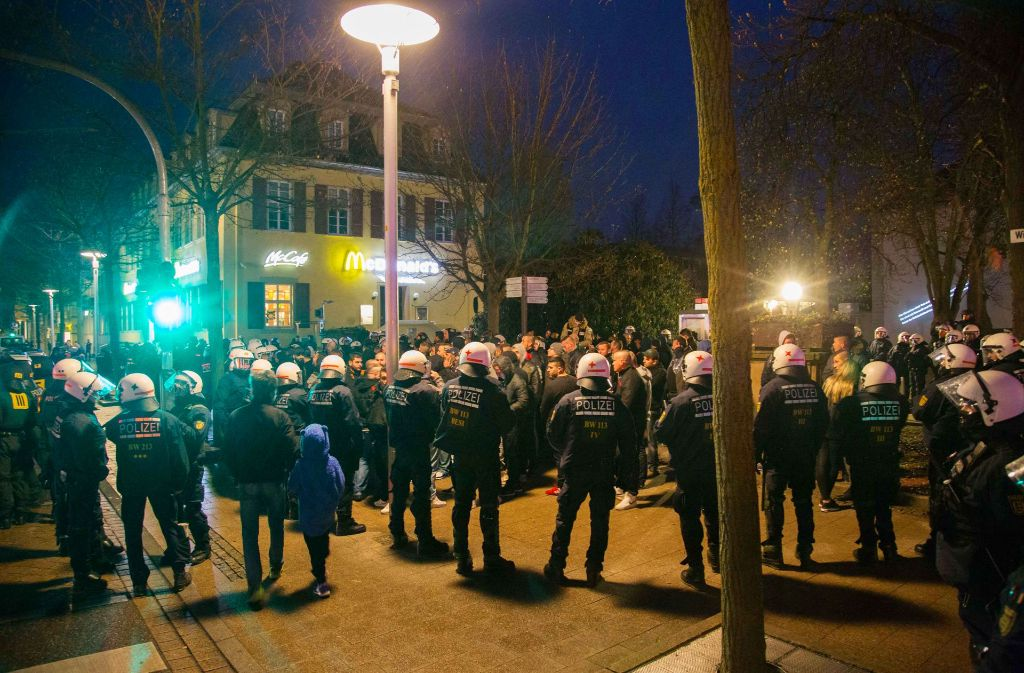 Immer wieder zeigte die Polizei bei Machtdemonstrationen von Rockern (wie hier  2015 in Ludwigsburg) Präsenz. Foto: 7aktuell