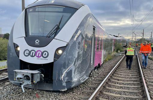 Zug entgleist beim Rangieren – Millionenschaden befürchtet