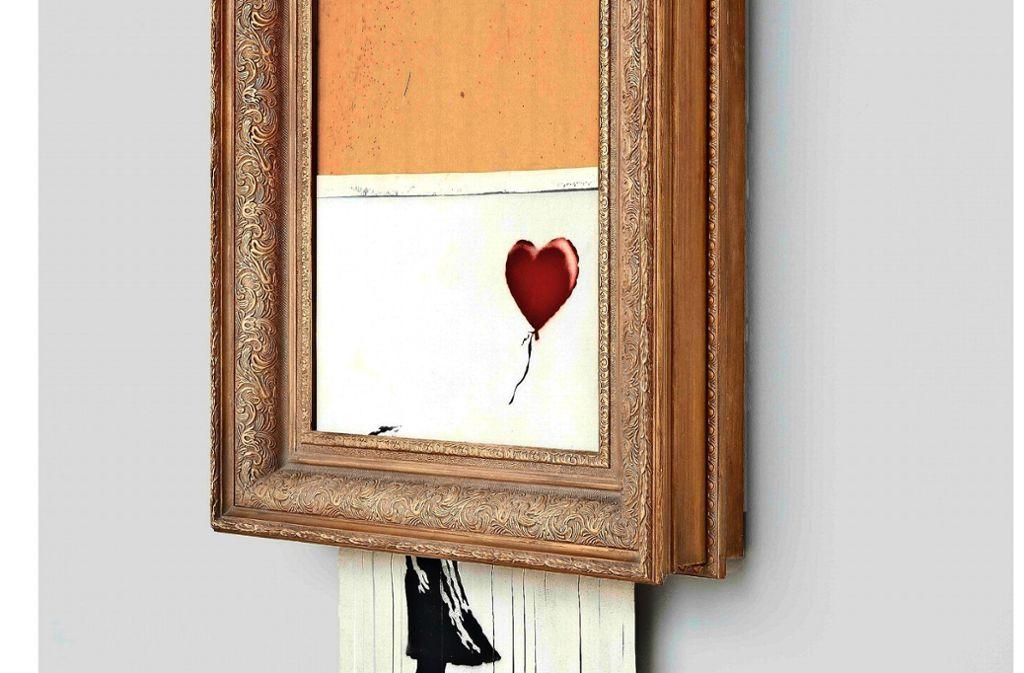 Banksy Geschreddertes Bild