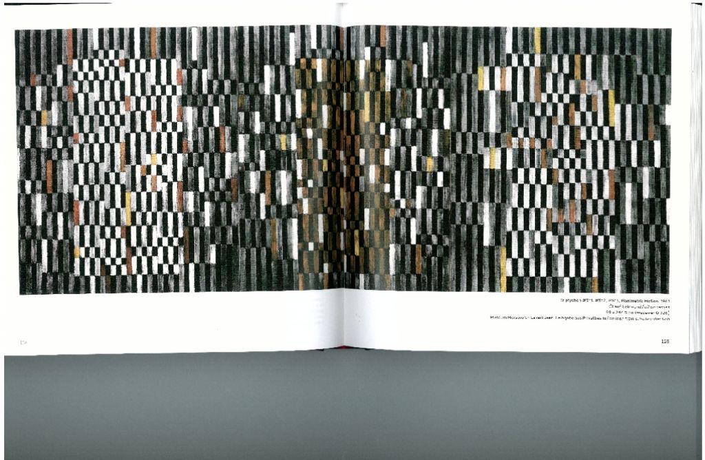 Vorläufer  der Op-Art:  Fleischmanns  Tryptichon aus  dem Jahr 1961 Foto: Daimler Art