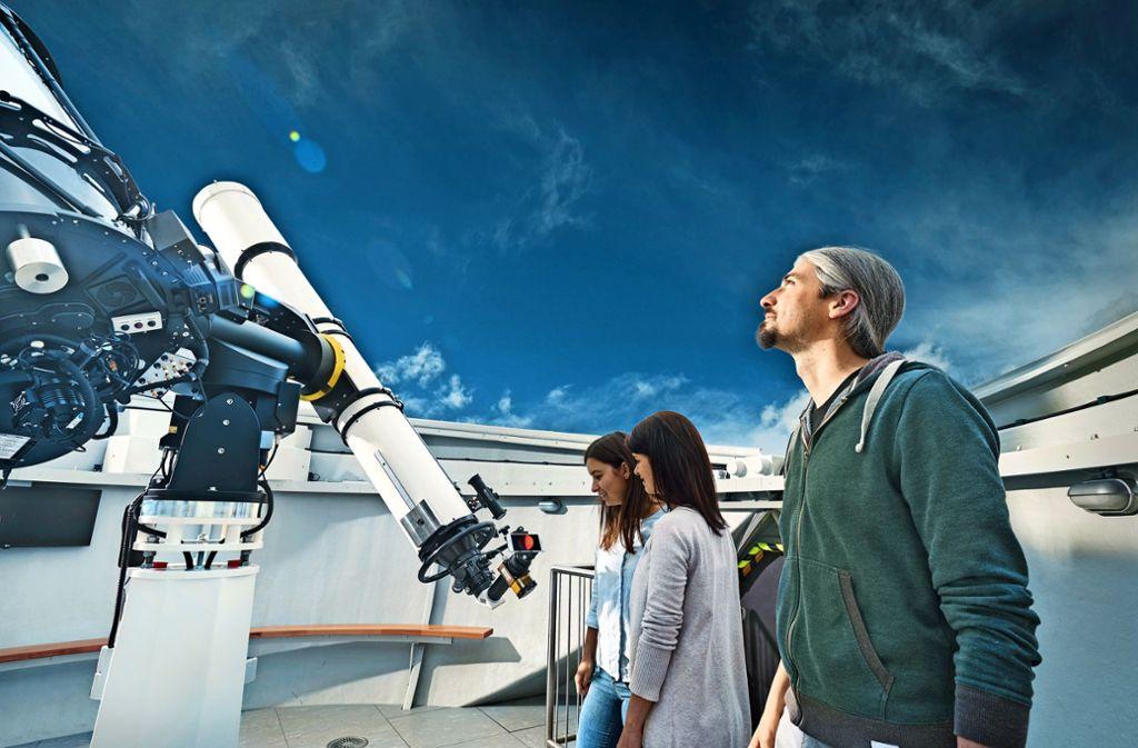 Das Teleskop ist auch bei Tag für den Blick ins All geeignet. Foto: ernestomartens