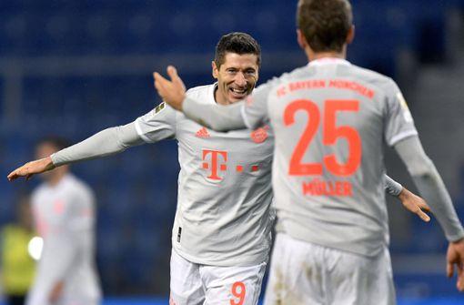 Müller und Lewandowski überragen