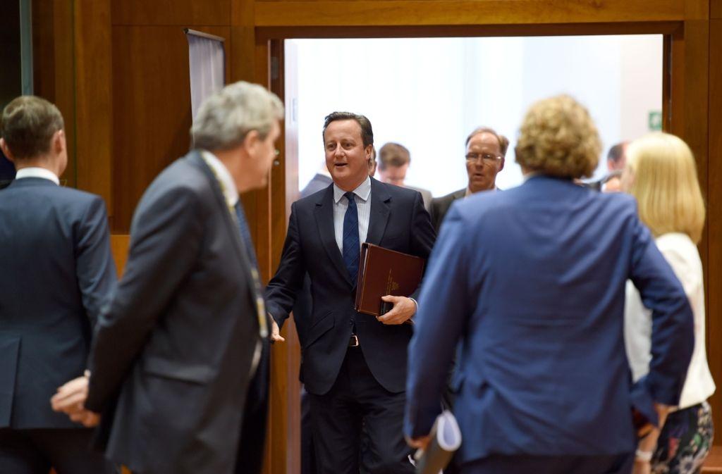 Steht nach dem Brexit ziemlich alleine da: David Cameron. Foto: AFP