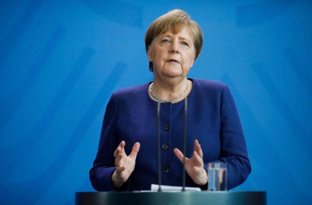 Mahnt weiter zur Vorsicht: Bundeskanzlerin Angela Merkel. Foto: AFP/Markus Schreiber