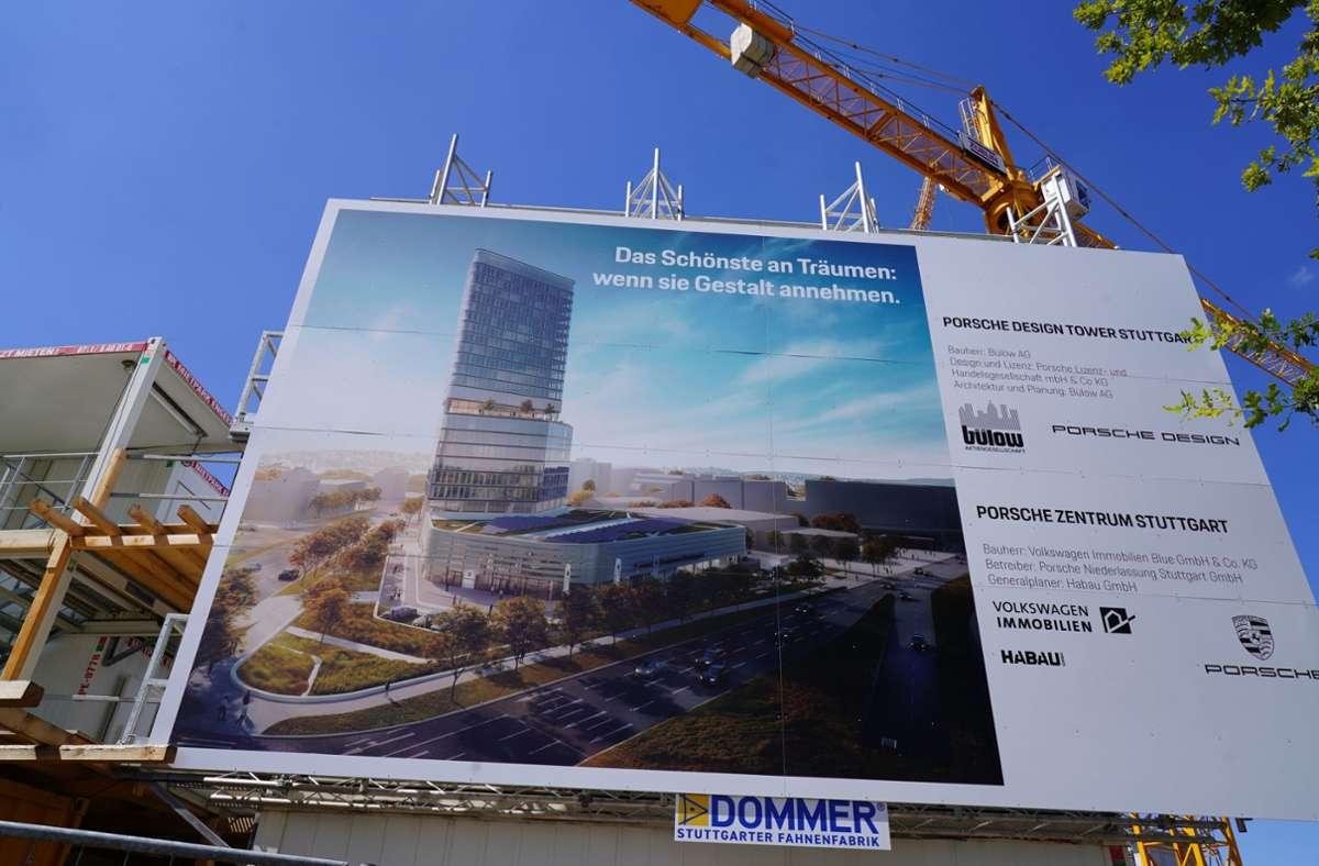 Dann gehört das Hochhaus mit seinen 90 Metern zu den höchsten Gebäuden der Stadt. Foto: Andreas Rosar Fotoagentur-Stuttgart