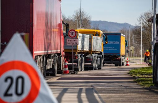 Corona bremst den Grenzverkehr