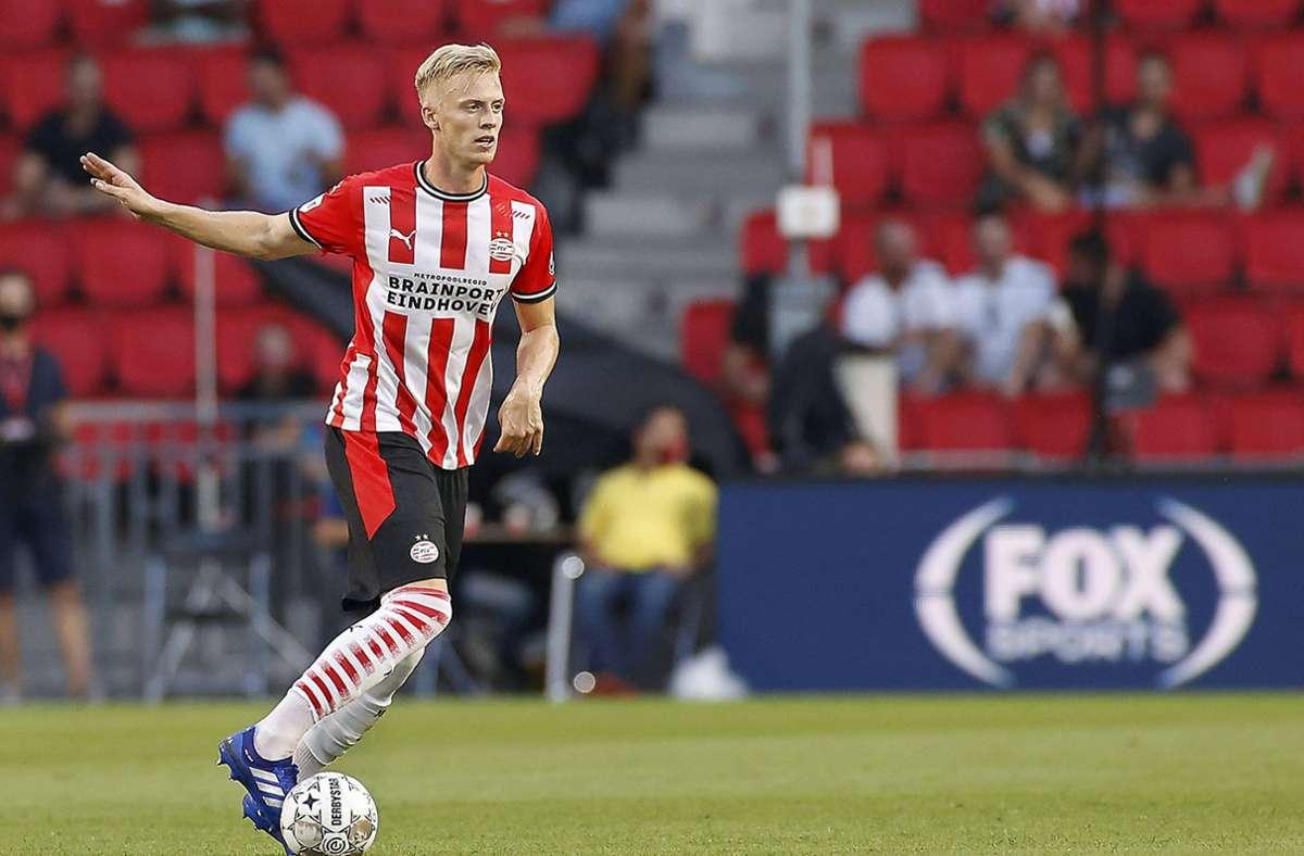 Timo Baumgartl kommt bei der PSV Eindhoven nicht regelmäßig zum Einsatz Foto: imago/Pro Shots