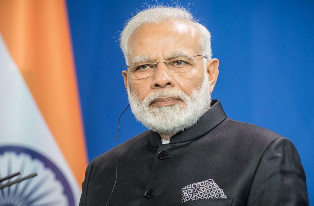 Der indische Premierminister Narendra Modi liegt bei den Parlamentswahlen vorne. Foto: dpa