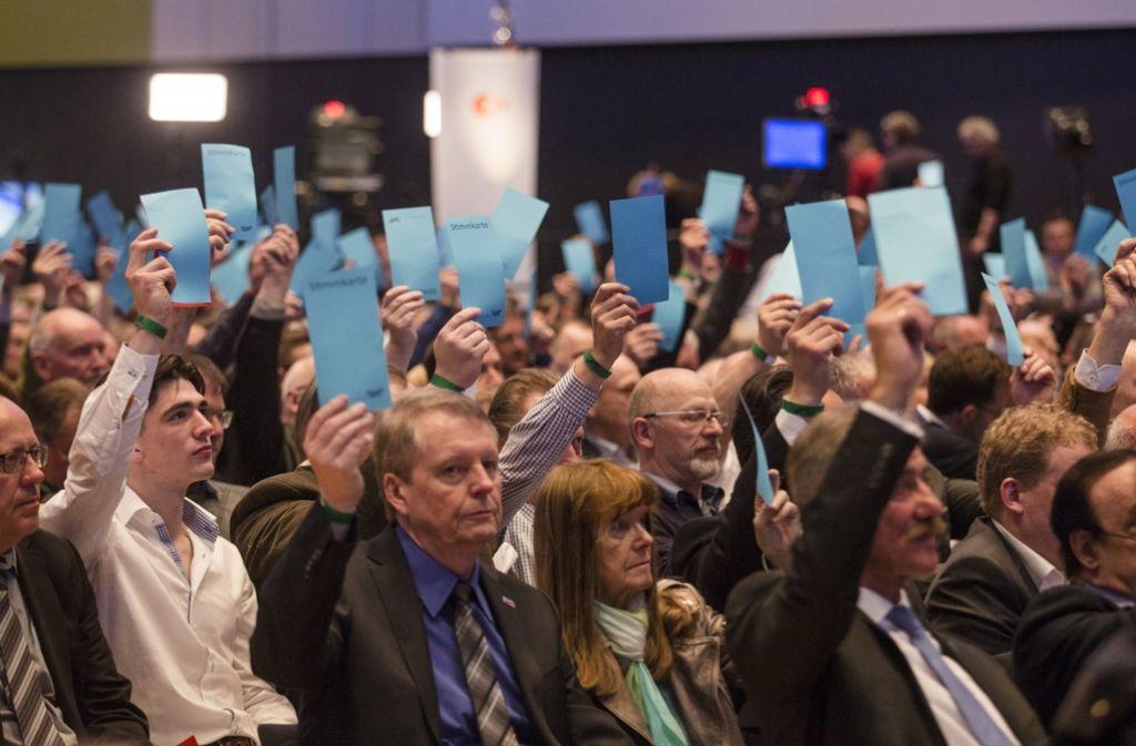 Mehr als 2000 Parteimitglieder haben sich am Wochenende zum Bundesparteitag in Stuttgart getroffen. Foto: dpa