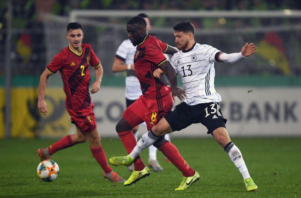 Der VfB-Profi Orel Mangala hat mit der belgischen U21 die DFB-Junioren besiegt. Foto: dpa/Patrick Seeger