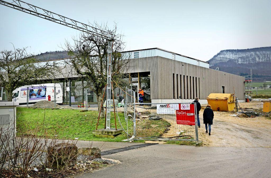 Vom kommenden Frühjahr an sollen die Vereine und Schulen die neue Halle in Eschenbach  nutzen können Foto: Horst Rudel