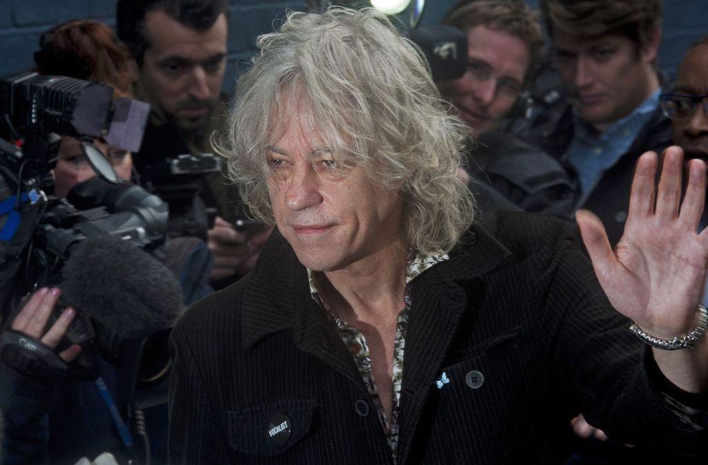 Aus Protest gegen Aung San Suu Kyi gibt der Rockstar Bob Geldof eine Auszeichnung zurück. Foto: EPA
