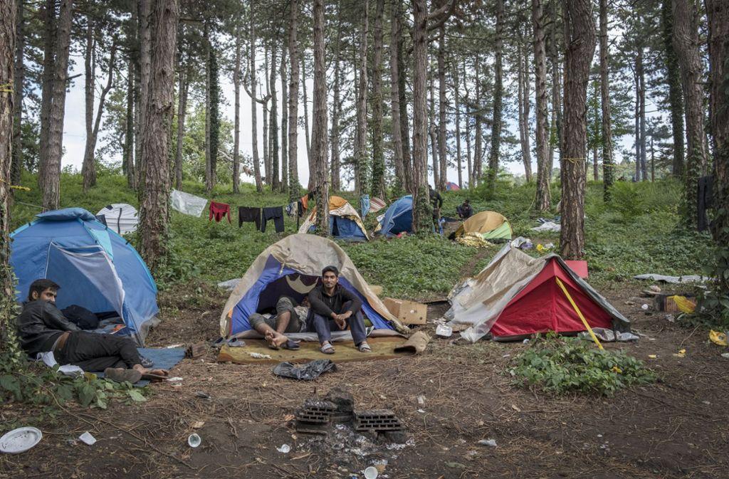 Im westbosnischen Bihac stranden Tausende Migranten auf dem Weg nach Westeuropa. Foto: dpa/Danilo Balducci