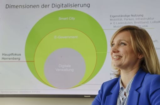 Sie gestaltet Herrenberg zur Smart City