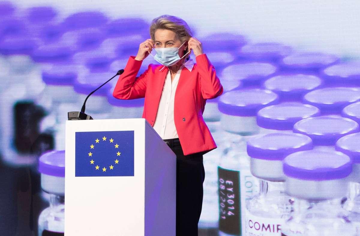 EU-Kommissionspräsidentin Ursula von der Leyen Foto: imago images/Belga