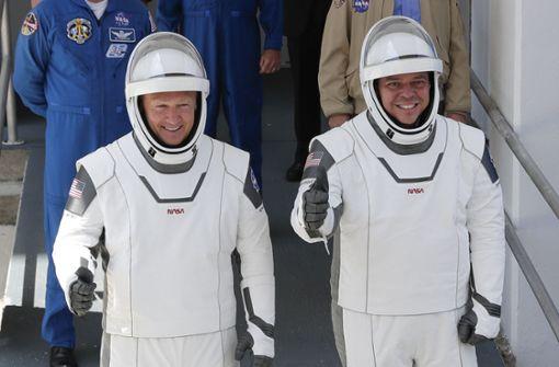 US-Astronauten nach historischer Mission zur ISS wieder auf Erde