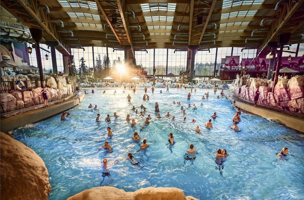 Ein Abstand von 1.50 Meter auch bei Wellengang? Die Badegäste in Rulantica müssen jedenfalls aufpassen. Foto: Europa Park