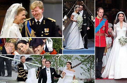 Die Brautkleider der Prinzessinnen