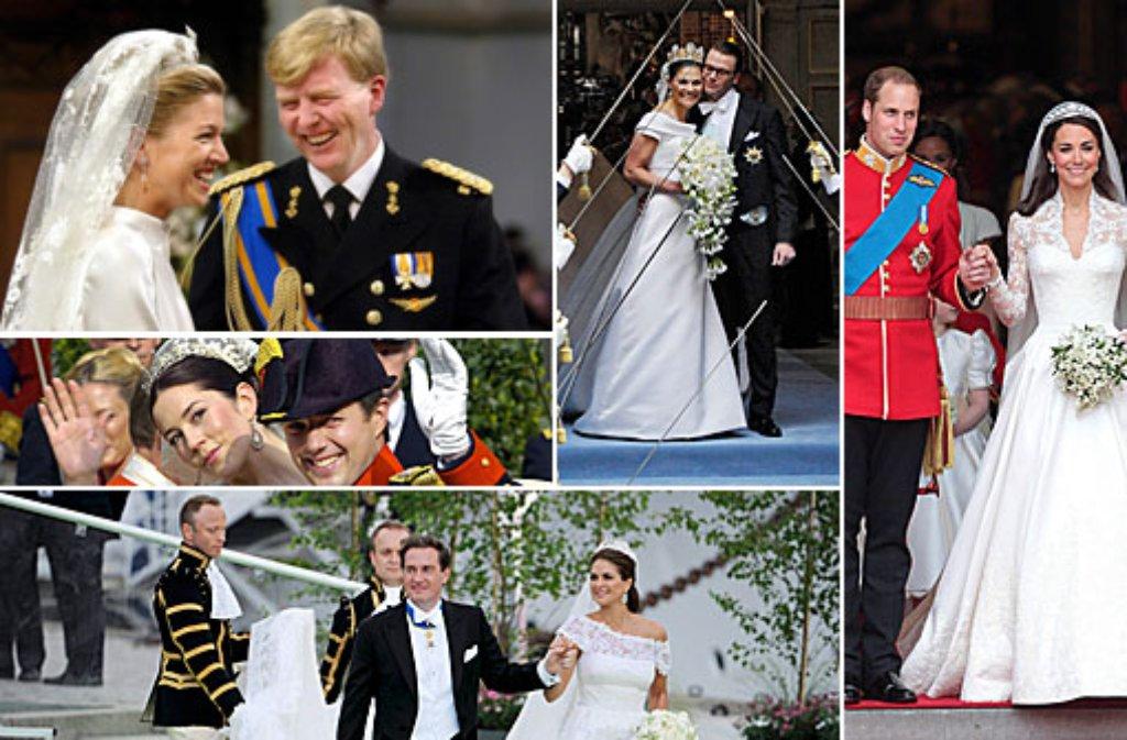 Was trägt Sofia Hellqvist, wenn sie am Samstag in Stockholm Prinzessin Sofia von Schweden wird? Vielleicht ließ sie sich von Brautkleidern anderer Prinzessinnen inspirieren ... Foto: dpa