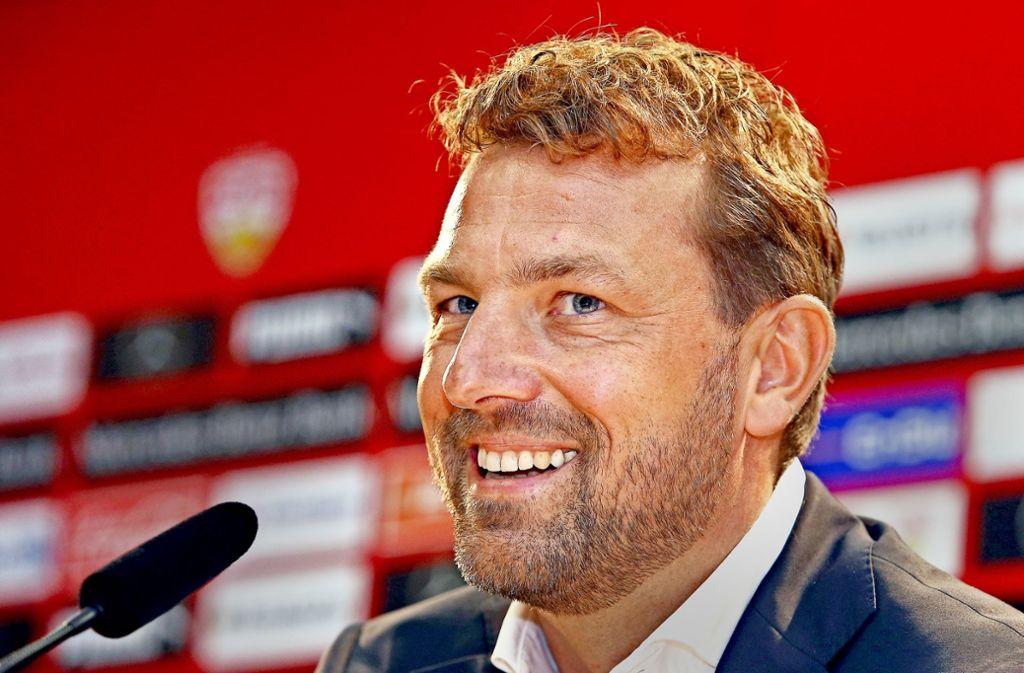 Markus Weinzierl geht seine neue Aufgabe beim VfB Stuttgart motiviert und zuversichtlich an. Foto: Baumann