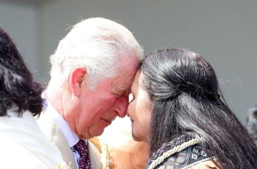 Royals auf Tuchfühlung mit den Ureinwohnern