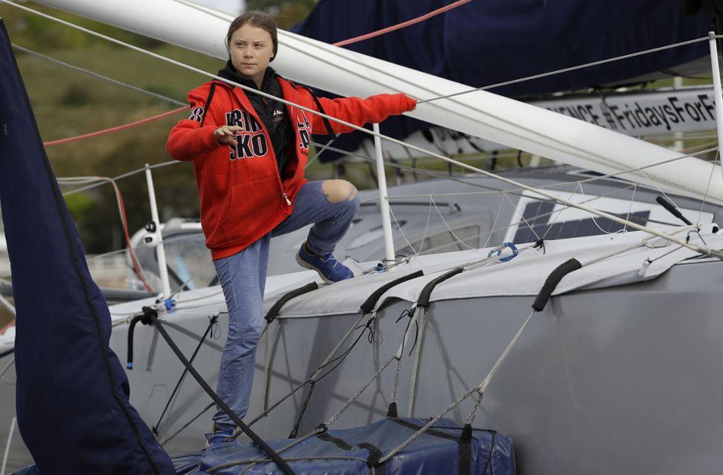 Greta Thunberg startet in die USA. Foto: AP