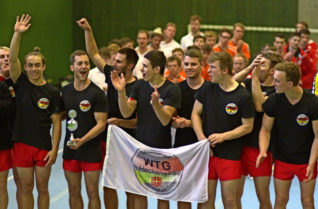 Künftig müssen sich die Gegner in der  Landesliga     vor den     Turnern    der WTG    II in Acht nehmen. Foto: Lukas  Weiß