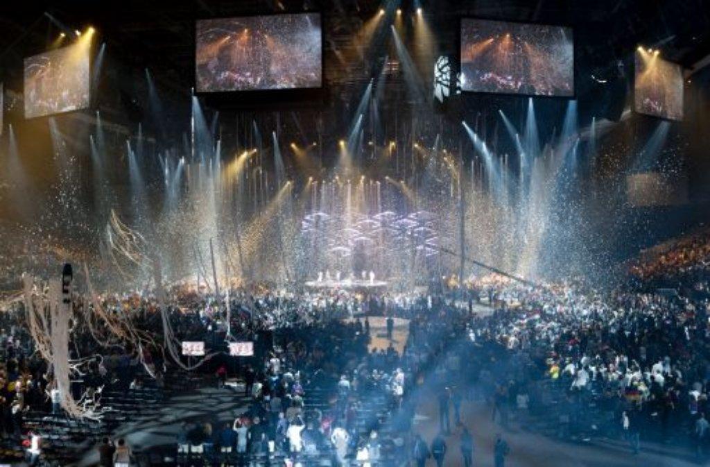 Feuerwerk der Popmusik: der Eurovision Song Contest. Foto: dapd
