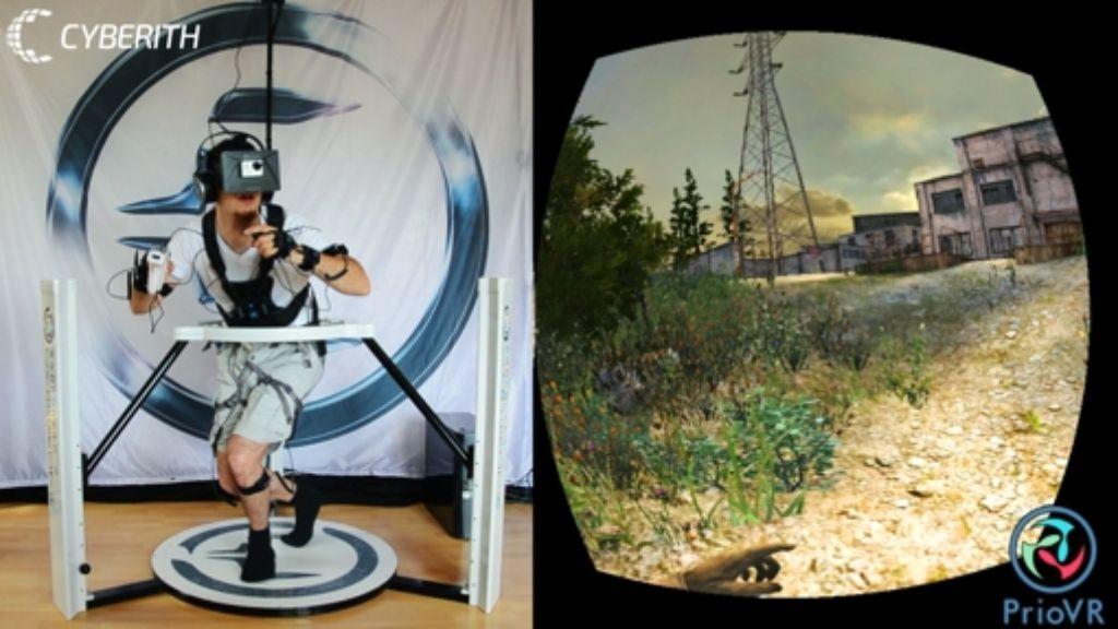 """Im """"Cyberith Virtualizer"""" sind Sensoren in der Grundplatte eingebaut, ebenso in den Stützstreben und dem Ring Foto: Cyberith"""