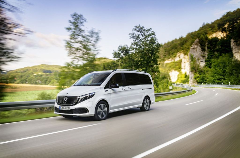 Daimlers erster vollelektrischer Van: der Mercedes-Benz EQV. Foto: Daimler AG
