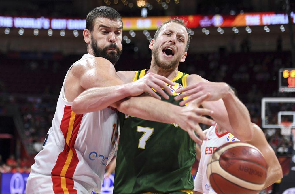 Im Halbfinale hatten sich die Spanier gegen Australien durchgesetzt. Nun treffen sie  im Endspiel auf Argentinien. Foto: dpa/Zhang Chenlin
