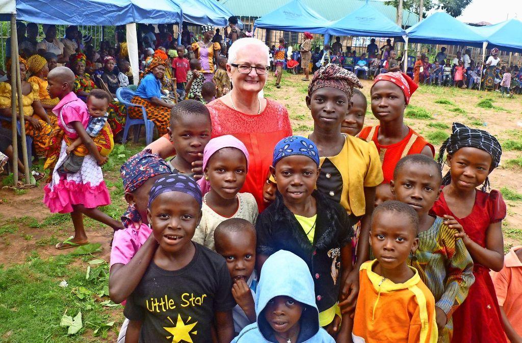 Im September hat Gudrun Rohde das nigerianische Dorf Amanaogu besucht. Besonders die Kinder liegen ihr am Herzen. Foto: privat