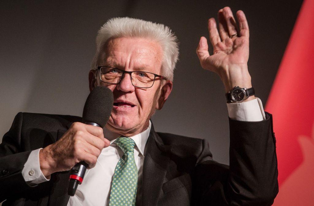 Kretschmann weicht aus: Zu Palmers Eskapaden möchte sich der Landesvater nicht äußern. Foto: dpa