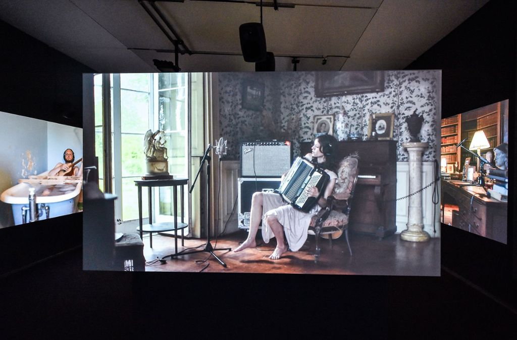 "Derzeit im Kunstmuseum: Kjartanssons Video  ""The Visitors"" Foto: Gerald Ulmann"