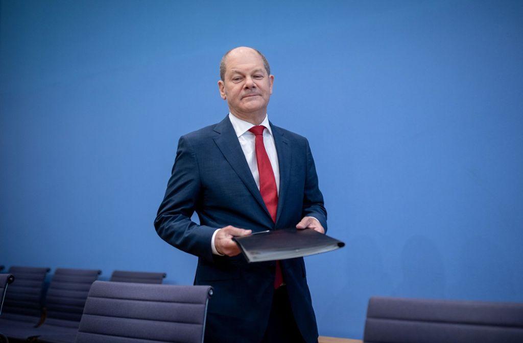 Vizekanzler Olaf Scholz (SPD) will in der Rentenpolitik punkten Foto: dpa