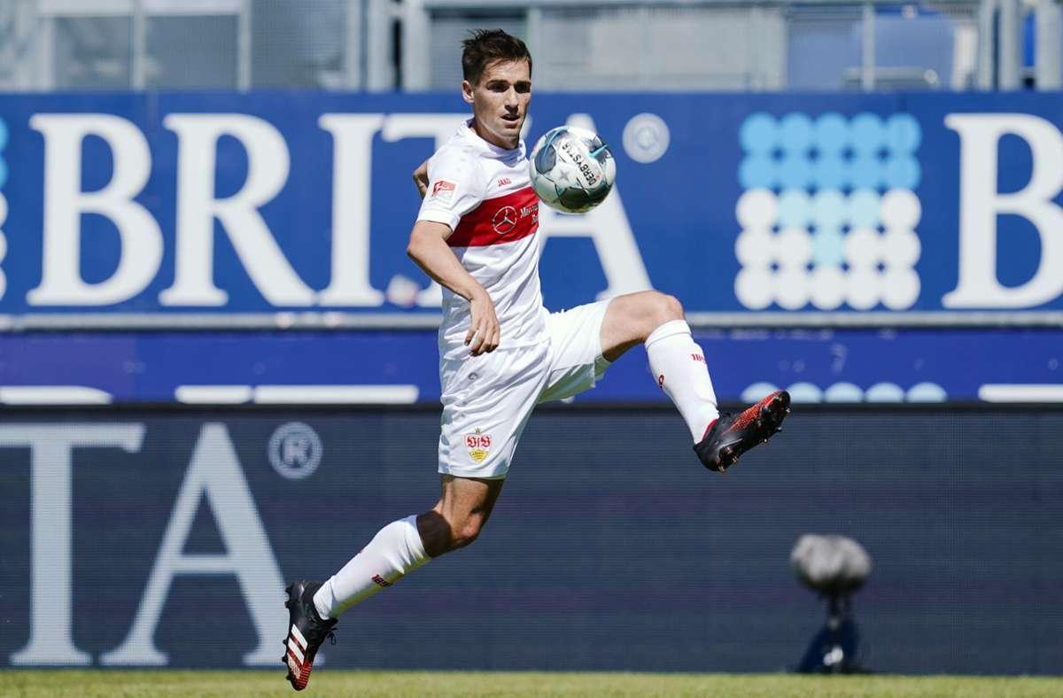 Philipp Klement vom VfB Stuttgart will sich beweisen. Foto: dpa/Uwe Anspach