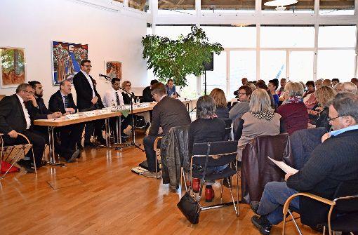 Anwohner diskutieren über Bau der Moschee